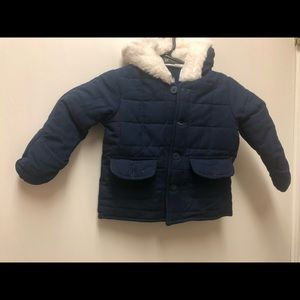 2 piece quilted navy blue winter wear